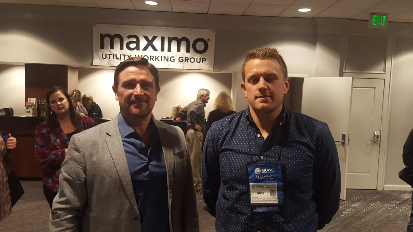Alex Houston, RP6 IT Project - Maximo Lines Lead  from NIE and I at the event.